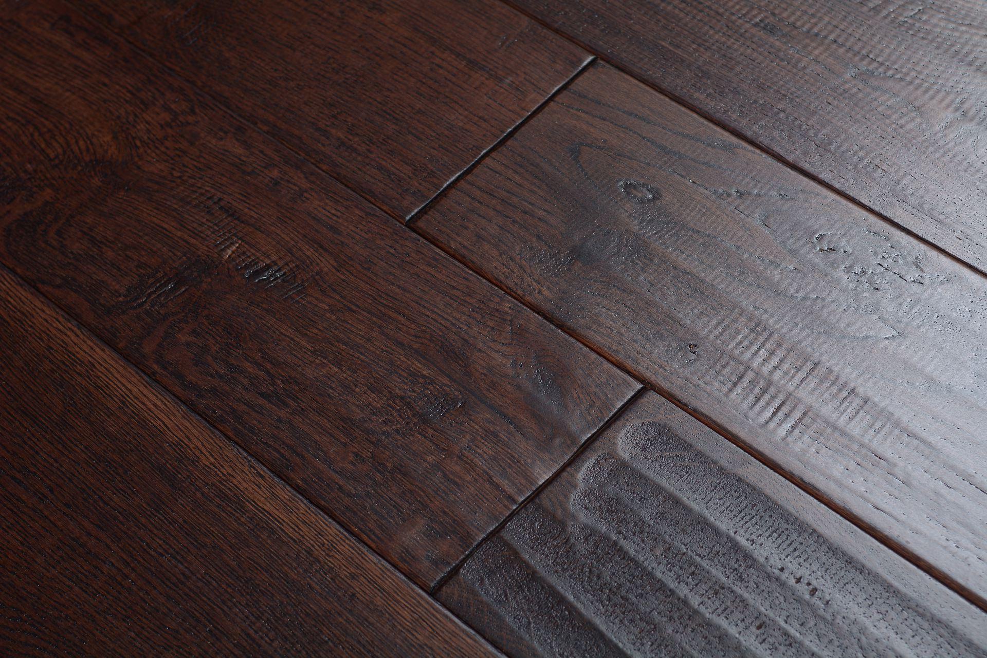 Elegant home solid handscraped 5 inch brown bear bog 5341 for Direct hardwood flooring