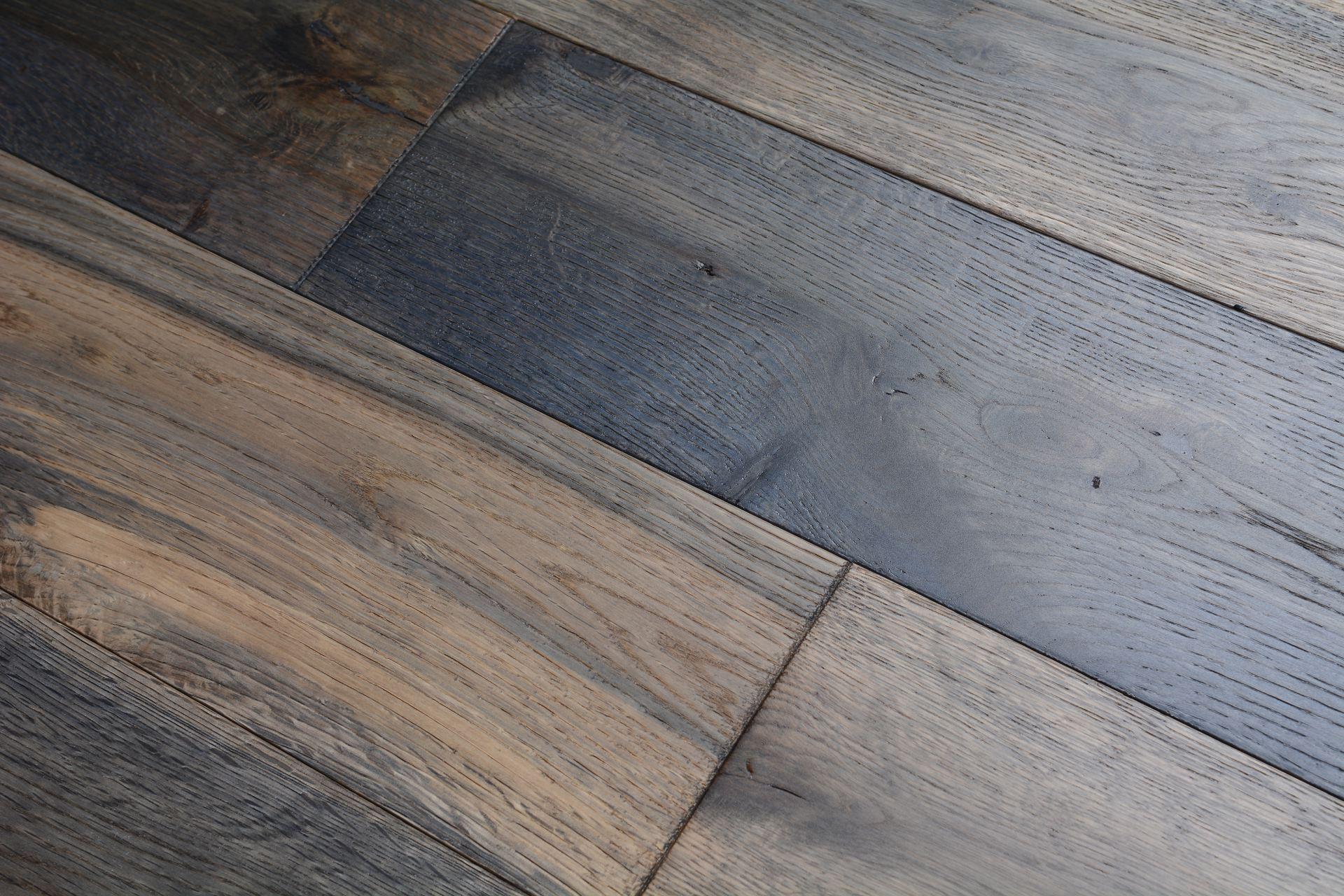 Elegant home solid handscraped 5 inch heathered oak bog for Hardwood floors 5 inch